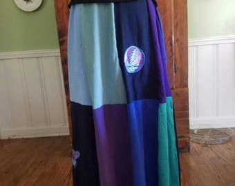 Water Color Long T-skirt Size M