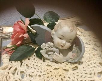Darling Vintage, Bisque Cherub Figurine
