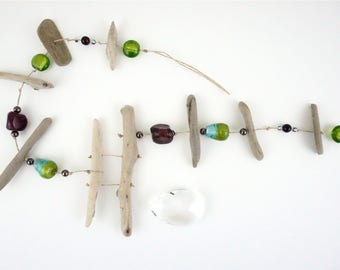 Driftwood Mobile, Crystal, Window Hanging, Sun Catcher