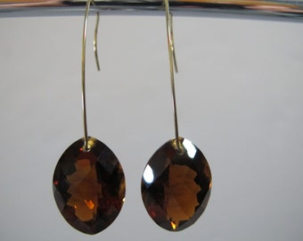 Madeira Citrine Gold Earrings