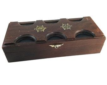 SALE!! Vintage Mens Nautical Jewelry Box/Decorative Box/Ship Box - Gift for Him - Lined Trinket Box