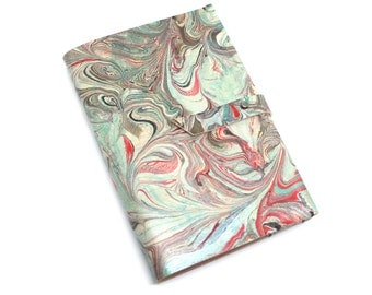 A6 Turquoise Leather Notebook Journal, Refillable, Hardback 'Colorado'