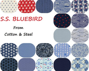 Fat Quarter Bundle(19) S.S. BLUEBIRD 2017  Collaborative  Fat Quarters