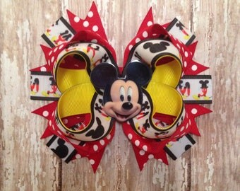 Mickey Staked Hair Bow