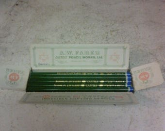 A. W. Faber pencils and tin
