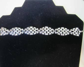 Vintage Coro silver tone  link bracelet