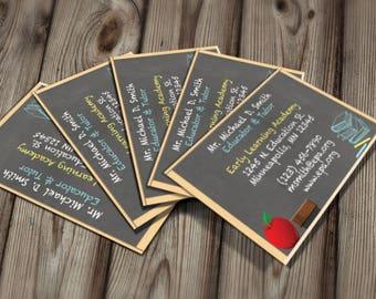 Tutor business card etsy diy do it yourself teacher business card tutor business card solutioingenieria Choice Image