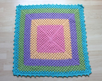 CLEARANCE Granny square blanket