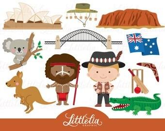 Australia clipart - Aussie clipart - 16031