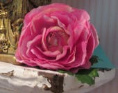 Silk Pink Ranunculus Buttonhole Wedding Boutonniere for the groom