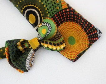 Bow,bowtie with hanky,green