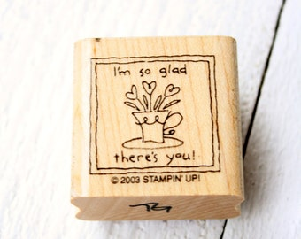 So Glad There's You Rubber Stamp
