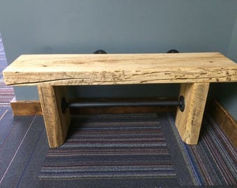 Custom Barn Beam Slab Benches Made to Order