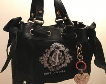 PRICE DROP Authentic Juicy Couture Black Velour Shoulder Bag