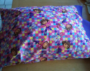 Dora The Explorer Pillowcase / Boots Pillow Case / Best Friends Pillowcase / Dora the Explorer Purple Bed Linen / Dora Toddler Pillowcase
