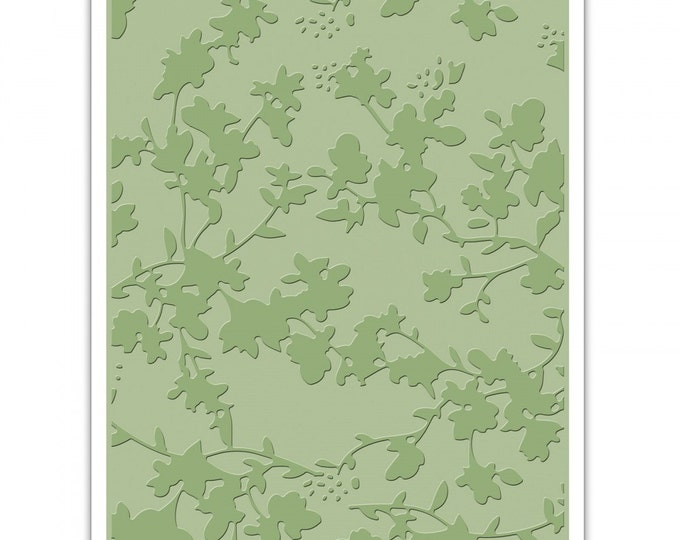 New! Sizzix Tim Holtz Texture Fades Embossing Folder - Floral