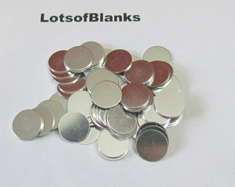 5/8 round blanks - 20 G - 1100 ALuminum - PREMIUM- Tumbled blanks - punch   blanks - stamping blanks - hand stamping blanks