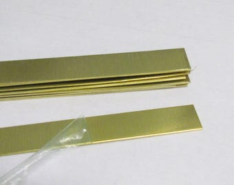 1/2 x 6  - 22G -Brass Bracelet Blanks - Easy to hand stamp on -  brass strips - bracelet blanks - brass cuff blanks - jewelry supplies