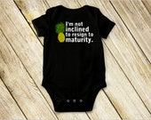 I'm Not Inclined To Resign To Maturity - PSYCH, The Friendly Indians, Shawn Spencer, Burton Guster - Baby Onesie and Toddler T-Shirt
