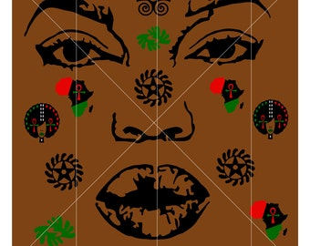 African American Themed Printable Paper Sheet - SVG