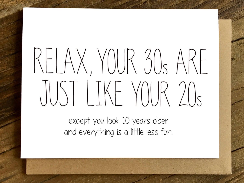 Funny Birthday Card 30th Birthday Card Birthday Card