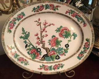 Vintage Indian Tree platter John Maddock England