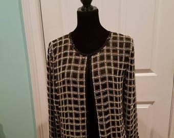 Vintage 100% Silk Beaded Jacket