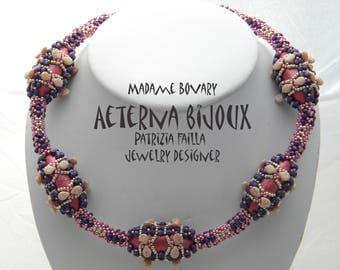 Madame Bovary necklace, beadwork, beading jewelry, handmade jewelry, handmade necklace