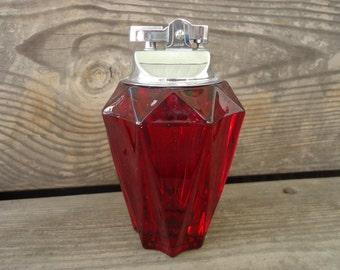 Viking Glass Ruby Cigarette Lighter