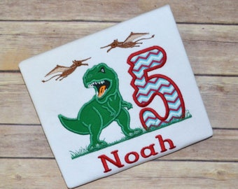 Dinosaur birthday shirt, tyrannosaurus rex birthday shirt, trex birthday shirt, boy birthday shirt, birthday tshirt, toddler tee