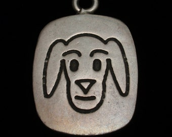 Dog Charm Sterling Silver Long Ears