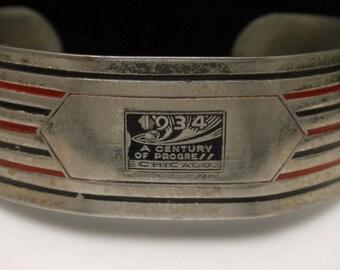 1934 Century of Progress Chicago World's Fair Souvenir Bracelet