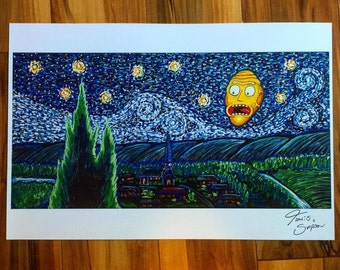 """Show me what you Gogh't"""" Large at 18x12"""" Print from the Original painting! 100 pound paper quality paper! FREE SHIPPING"""