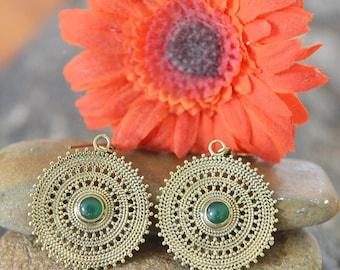 Mandala Earrings,Boho Earrings, Ethnic Earrings, Gipsy Earrings, Indian Earrings, Bohemian Earrings, Yoga Jewellery