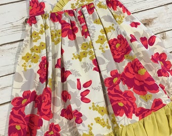 SALE! Maxi dress size 4 and 5 ready to ship - floral sun dress- floral maxi dress - long dress for girls
