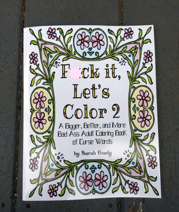 Swear Word Coloring Book Curse Big White Elephant Pages