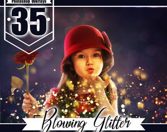 35 blowing glitter overlays, Confetti Photoshop overlays, Photoshop Overlays, Photo Overlays, Wedding Overlays, Glitter Dust, jpg file