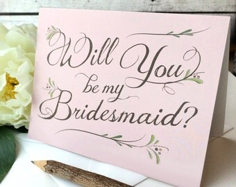 Will You Be My Bridesmaid Card - Will You Be My Bridesmaid? - Pink Bohemian Chic Bridesmaid Invitation