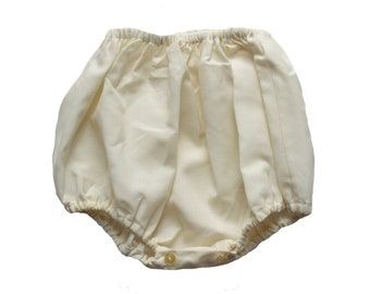 FRENCH vintage 60's / kids / bloomers / cream polycotton  / as new / size 1 year