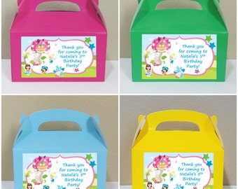 12 Personalized Fairy Gable Boxes Fairy Favor Boxes Fairy Treat Boxes Fairy Party Favors