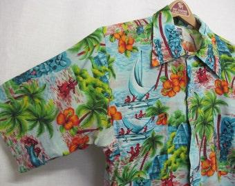 1960 Hawaiian Shirt Kennington Hawaiian Shirt Vintage Tiki Party