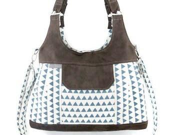Iris bag, bag, handbag, shoulder bag, convertible bag, blue bag,