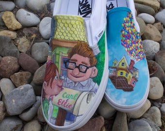 Disney/Pixar's UP Custom hand painted Vans Shoes