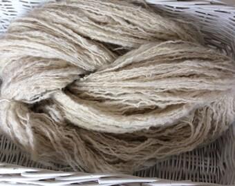 North ronaldsay hand spun handspun yarn British rare breed wool for Knitting Crochet Weaving