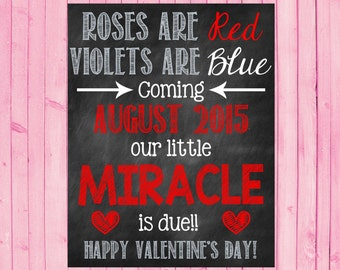 Miracle Valentineu0027s Day Pregnancy Announcement Valentineu0027s Day Pregnancy  Reveal