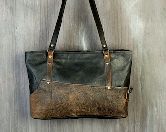 Woman Leather Purse / Upcycled Leather Bag /  Faded Leather Bag / Minimalist Bag / Eco Bag / Woman Shoulderbag / Leather Purse /Friendly Bag