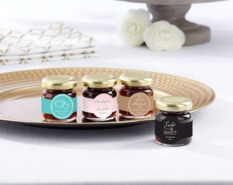 24+ Personalized Strawberry Jam Wedding Favors, Jam Wedding Favor, Mini Jam Favors, Edible Wedding Favors (19048ST-WD)
