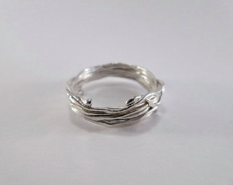 Sterling silver wire wrapped ring 8