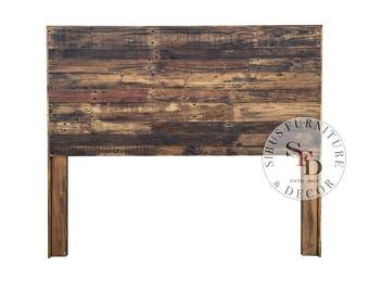 reclaimed wood headboard pallet headboard dark walnut sale twin size full size queen size king size