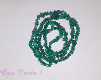Malachite Necklace of 150 cm around the neck